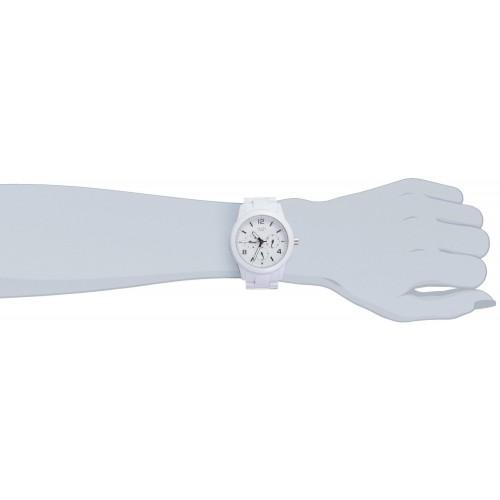 Montre pour Femme Guess - Quartz Analogique - Cadran Blanc - Bracelet Plastique Blanc